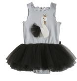 Petite Hailey Petite Hailey Swan Baby Tutu Dress - Gray