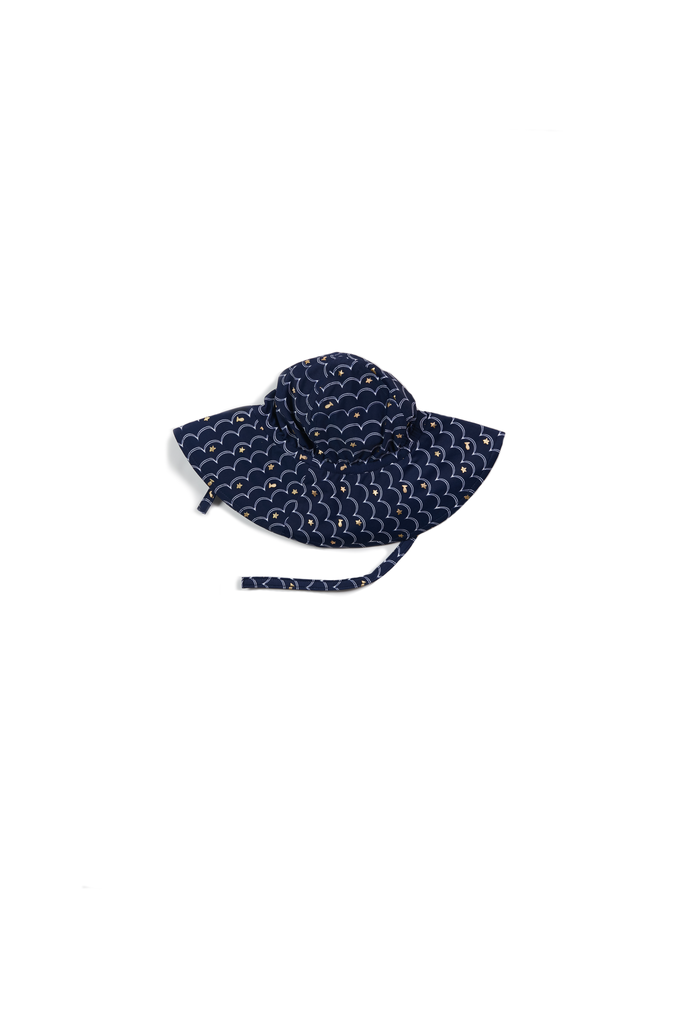Egg Egg Beach Hat - Navy