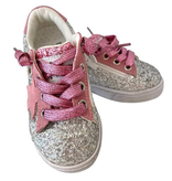 Lola & the Boys Lola & the Boys Glitter Pink Star Sneakers - BROO90266