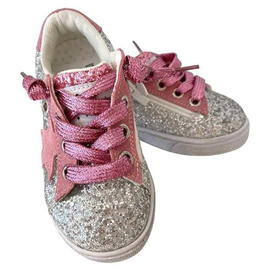 Lola & the Boys Lola & the Boys Glitter Pink Star Sneakers - BROO90266