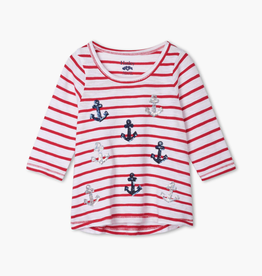 Hatley Hatley Nautical Anchors Long Sleeve Tee
