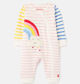 Joules Joules Winfield Cotton Zip Sleepsuit