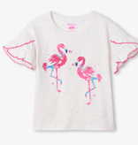 Hatley Hatley Fancy Flamingo Flutter Sleeve Tee