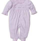 kissy kissy Kissy Kissy CLB Footie with Hand Smock and Ruffle Collar
