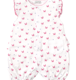 kissy kissy Kissy Kissy Crab Craze Short Playsuit - Fuchsia