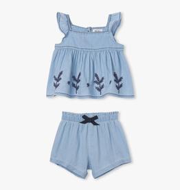 Hatley Hatley Denim Baby Sweet Heart Top Set