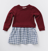 Thimble Thimble Sweatshirt Dress - Cranberry