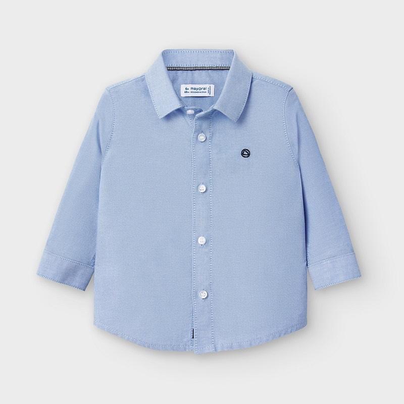 Mayoral Mayoral Long Sleeve Oxford Shirt - Blue