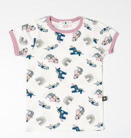 Petite Hailey Petite Hailey Multi Mermaid Tshirt - White