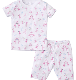 kissy kissy Kissy Kissy Flowering Flamingos Short Pajama Set - BROO85060