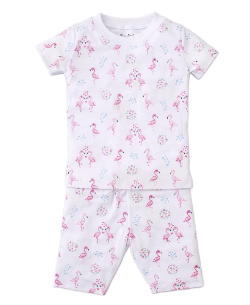 kissy kissy Kissy Kissy Flowering Flamingos Short Pajama Set - BROO85057