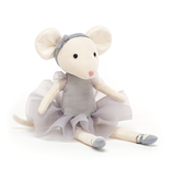JellyCat Jelly Cat Pirouette Mouse Pebble
