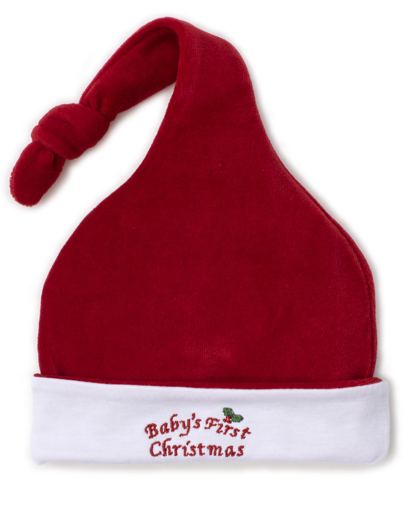 kissy kissy Kissy Kissy Baby's First Christmas Velour Stocking Hat - BROO79277