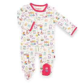 Magnificent Baby Magnetic Me Rainbow Sprinkles Organic Cotton Footie