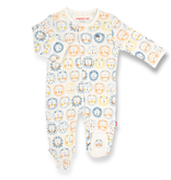 Magnificent Baby Magnetic Me Mane Event Organic Cotton Magnetic Footie