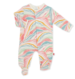 Magnificent Baby Magnetic Me Twirls and Swirls Modal Footie