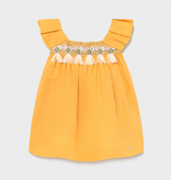 Mayoral Mayoral Linen Dress Mustard