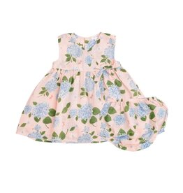 Angel Dear Angel Dear Hydrangea Kimono Dress & Diaper Cover