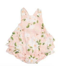 Angel Dear Angel Dear Magnolia Muslin Ruffle Sunsuit