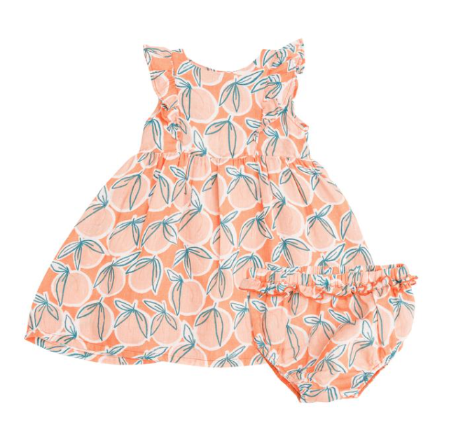 Angel Dear Angel Dear Peachy Dress and Diaper Cover