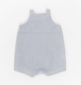 Thimble Thimble Knotted Shortall in Stone Seersucker