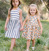 Thimble Thimble Weekend Dress in Clementine
