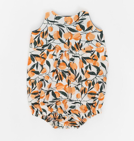 Thimble Thimble Knotted Romper in Clementine