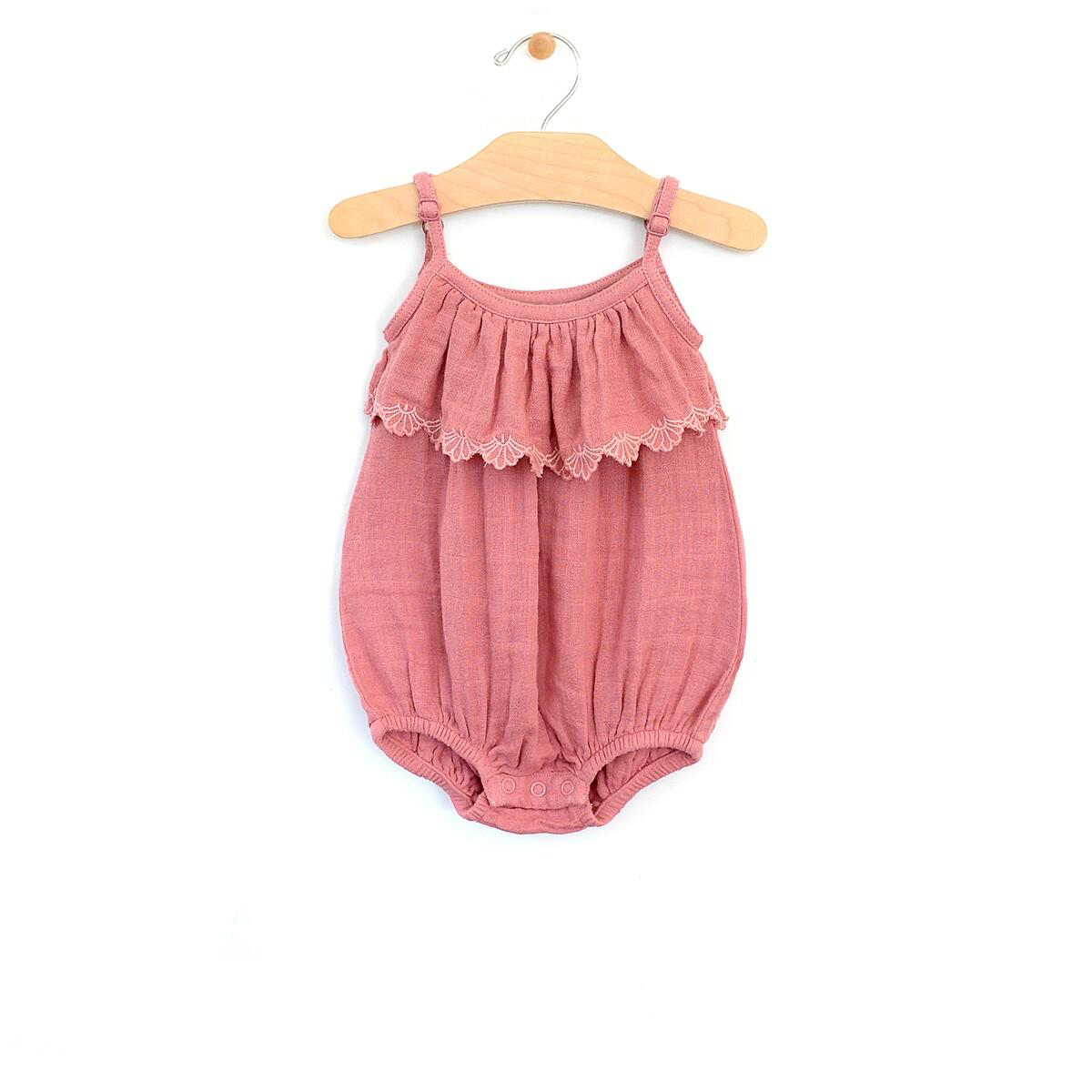 city mouse City Mouse Woven Embossed Flutter Romper