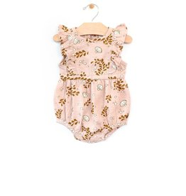 city mouse City Mouse Slub Flutter Bubble Romper