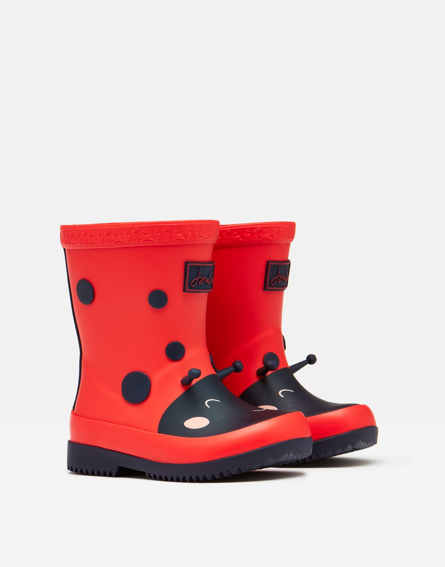 Joules Joules Red Ladybug Welly