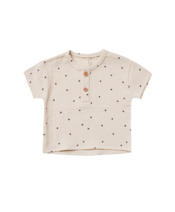 Quincy Mae Quincy Mae Organic Woven Henry Top
