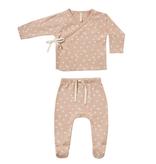 Quincy Mae Quincy Mae Organic Kimono Top & Footed Pant Set - Petal