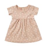 Quincy Mae Quincy Mae Organic Short Sleeve Baby Dress - Blossom Petal