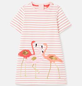 Joules Joules Rosalee Flamingo Dress