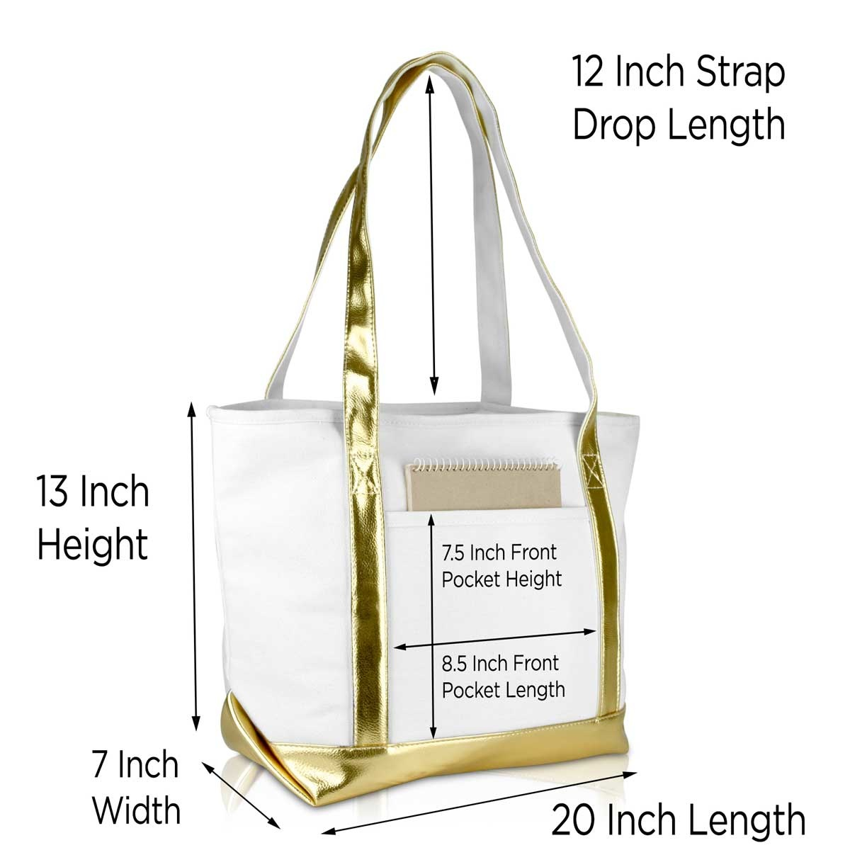 Canvas Tote Bag with Monogram