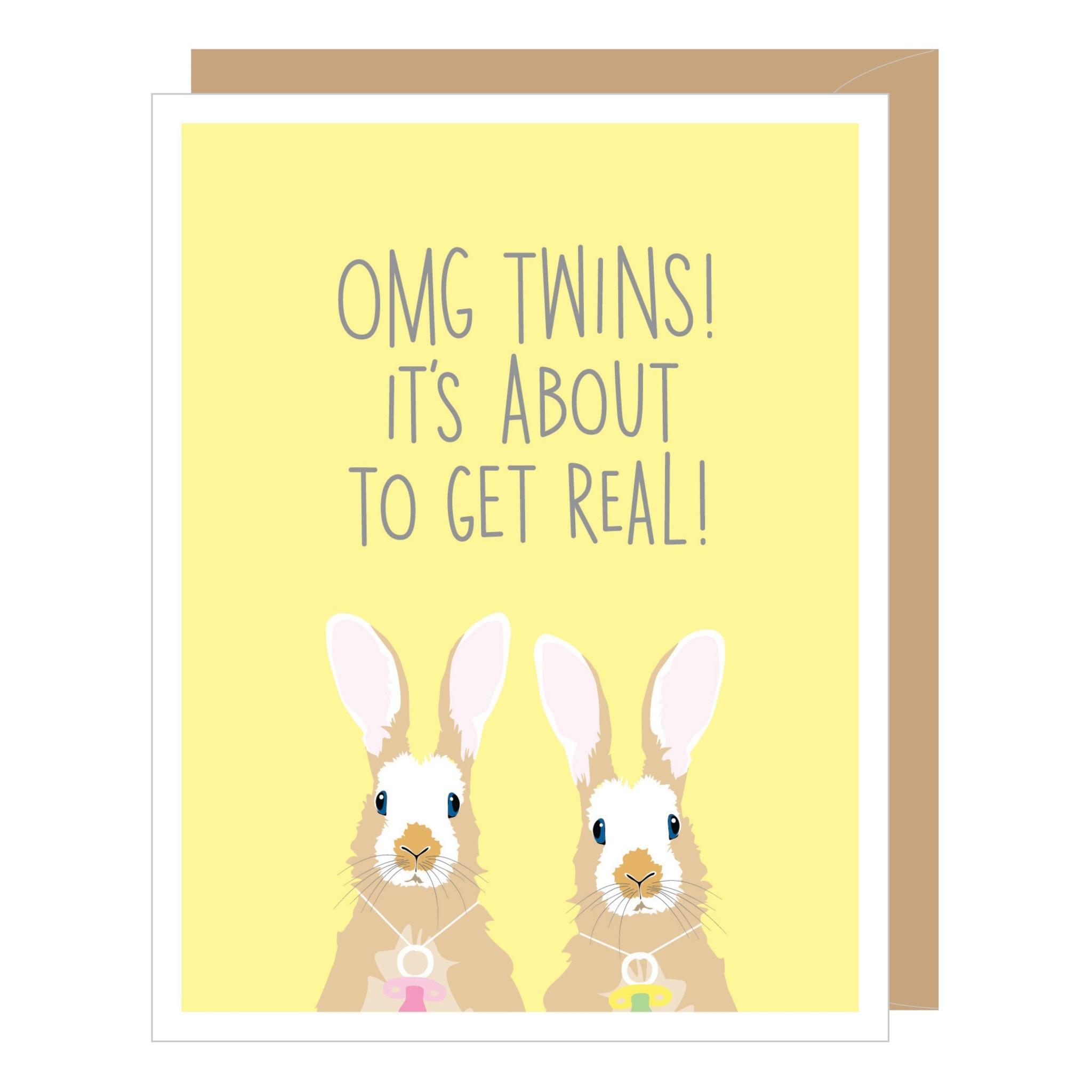 Twins Baby Card
