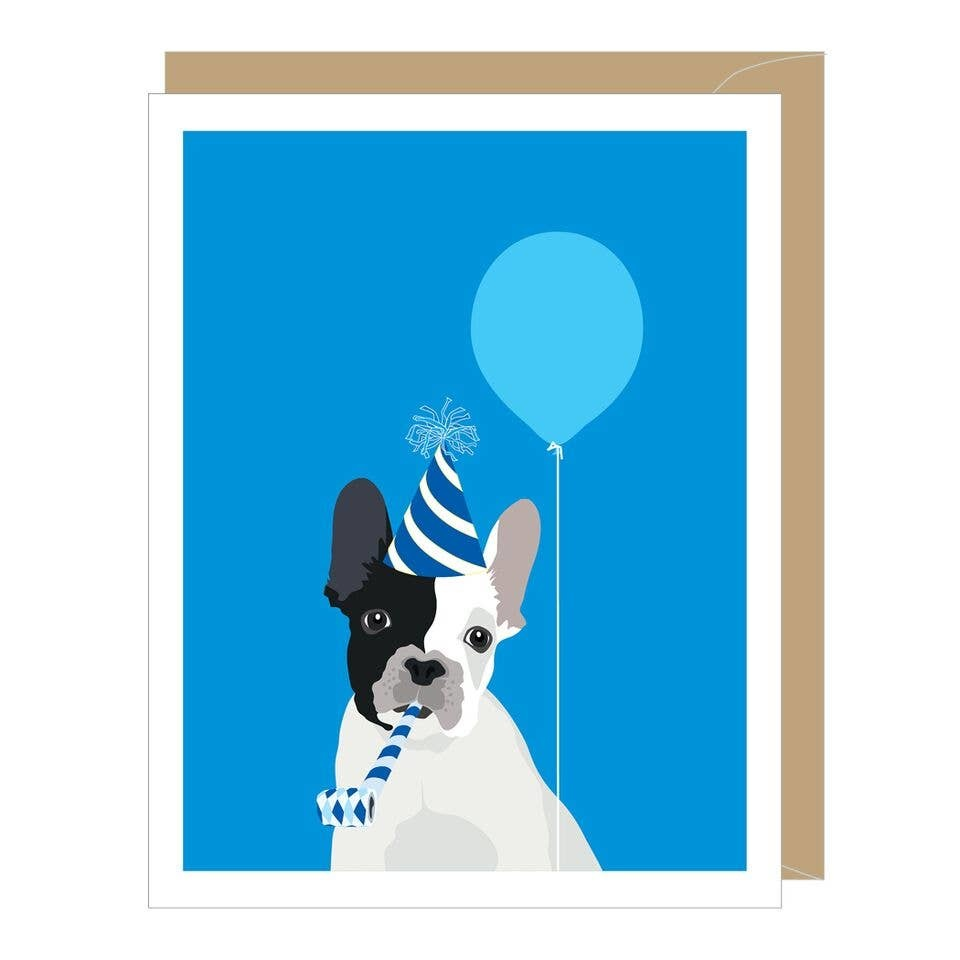 Frenchie Birthday Card