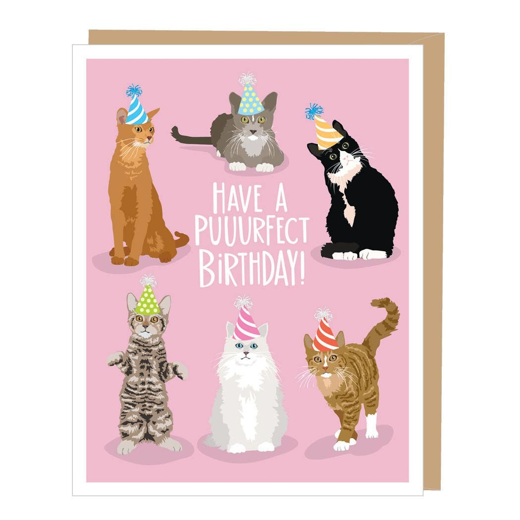 Puurect Cats Birthday Card