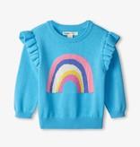 Hatley Hatley Rainbow Ruffle Sleeve Sweater