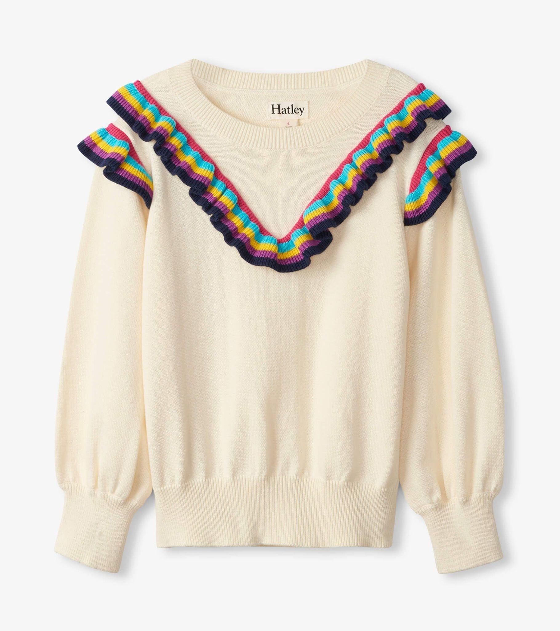 Hatley Hatley Rainbow Ruffle Sweater