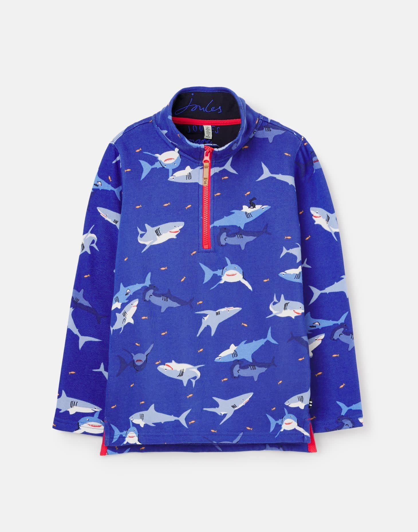 Joules Joules Dale Printed Half Zip Sweatshirt