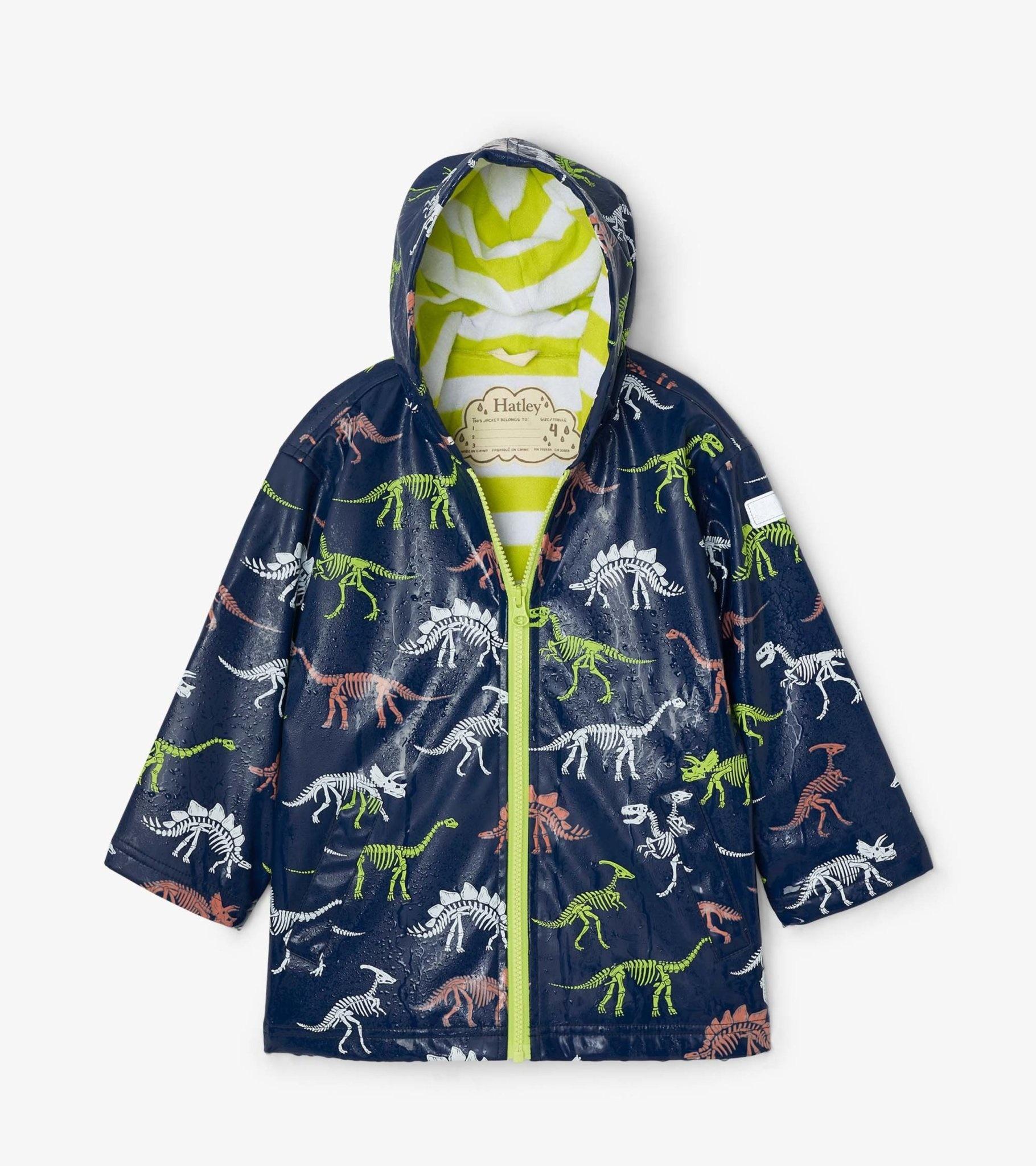 Hatley Hatley Dino Color Changing Splash Jacket