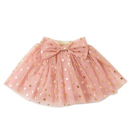 Petite Hailey Petite Hailey Dot Bow Skirt