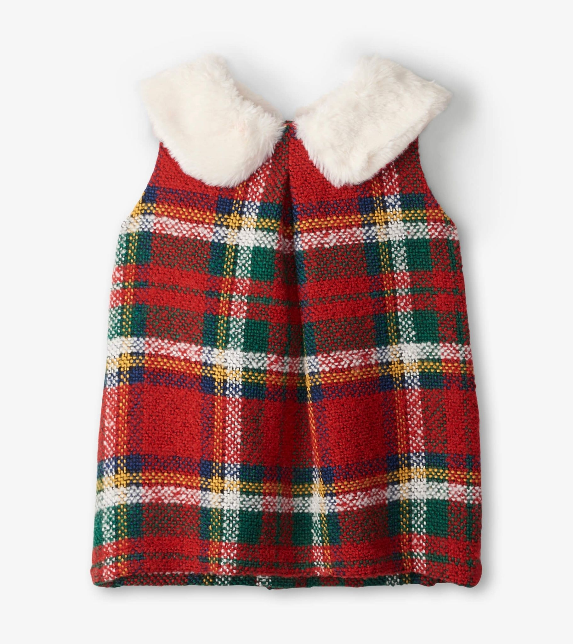 Hatley Hatley  Faux Fur Collar Shift Dress
