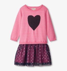 Hatley Hatley Glitter Heart Tulle Dress