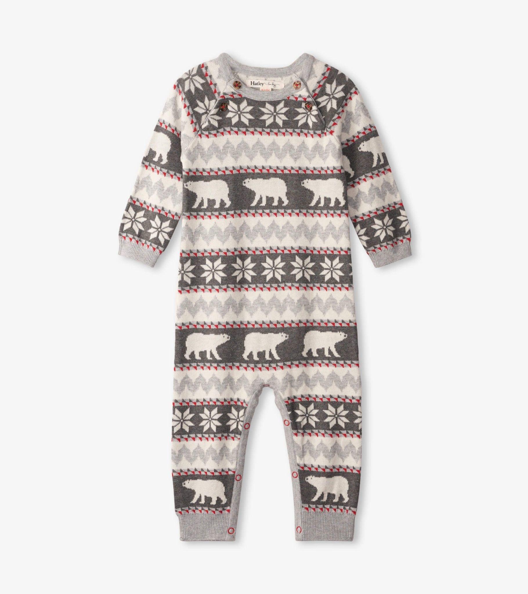Hatley Hatley Polar Bear Fair Isle Sweater Romper