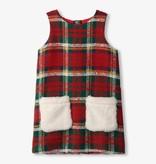 Hatley Hatley Tartan Faux Fur Pocket Dress