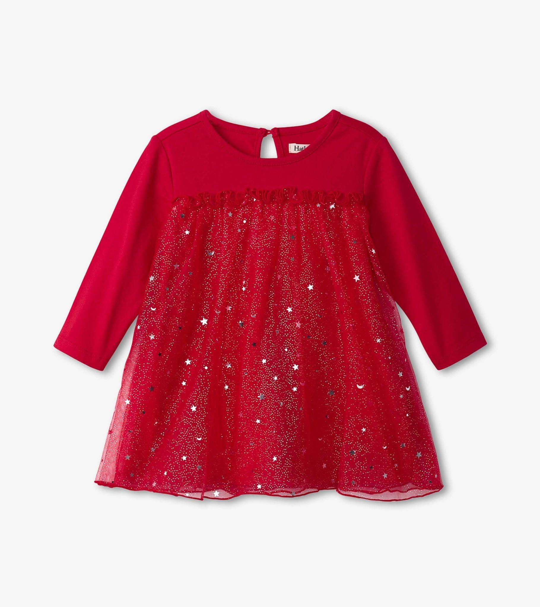 Hatley Hatley Twinkle Star Holiday Tulle Dress