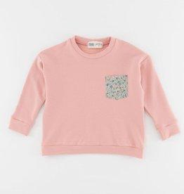 Thimble Thimble Bamboo Boxy Sweatshirt in Rose Fleurs