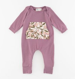 Thimble Thimble Bamboo Zipper Romper in Orchard